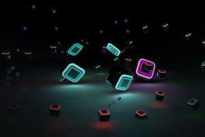 render cube digital art abstract