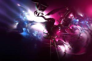 render digital art lights abstract