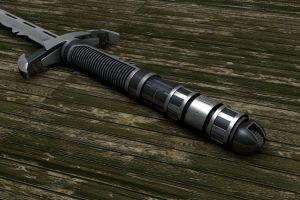 render weapon digital art sword