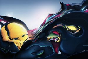 rik oostenbroek abstract colorful artwork digital art