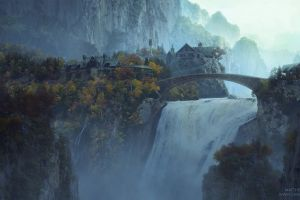 rivendell the lord of the rings movies waterfall