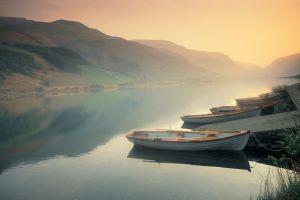 river landscape boat nature