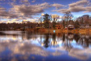 river landscape sky nature