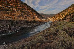 river sunset nature