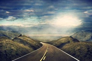 road landscape sky
