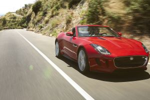 road red cars vehicle car jaguar f-type jaguar (car)