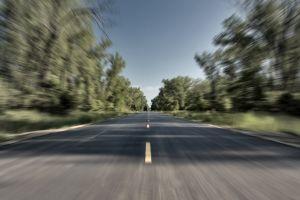road trees long exposure