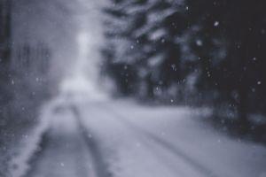 road winter snowing snow
