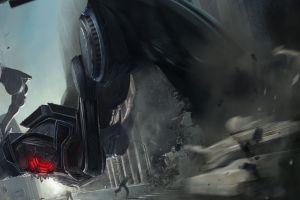 robot cyborg fantasy art artwork destruction mech