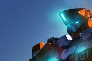 robot futuristic aldnoah.zero mech anime digital art