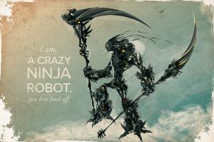 robot typography artwork