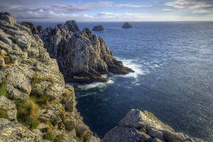 rock cliff nature sea horizon