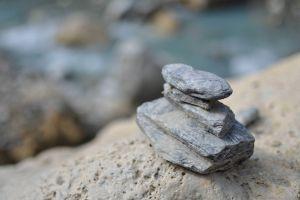 rock depth of field stones