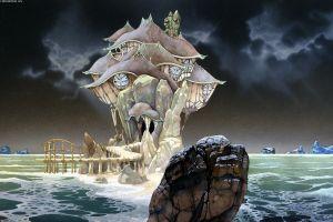 rock fantasy art roger dean sea