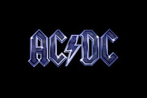 rock simple background ac/dc black