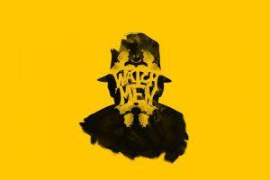 rorschach minimalism yellow yellow background adam sidwell watchmen