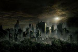 ruin cityscape city apocalyptic