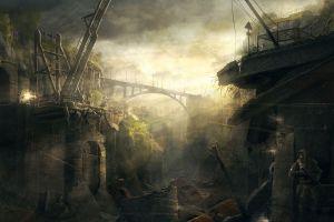 ruin futuristic apocalyptic