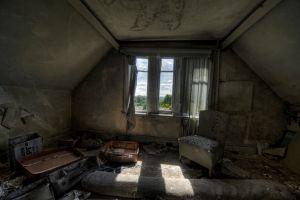 ruin window interior