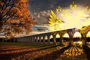 russia trees digital art