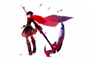 rwby anime anime girls white ruby rose (rwby) ruby rose (character) red dress