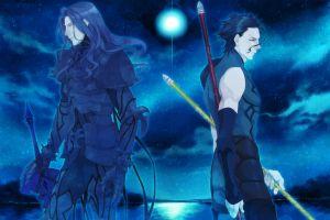 saber lancer (fate/zero) anime boys blue fate/zero anime berserker (fate/zero)