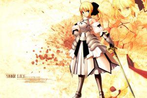 saber lily anime anime girls