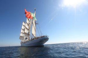 sailing ship portugal sagres sea vehicle