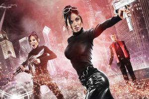 saints row women saints row: the third girls with guns gun video games