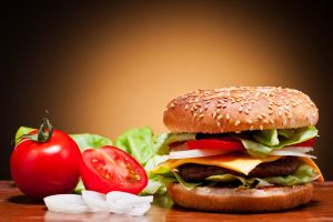 salad food hamburgers fast food tomatoes