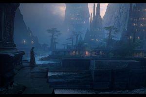 samurai fantasy art fantasy city
