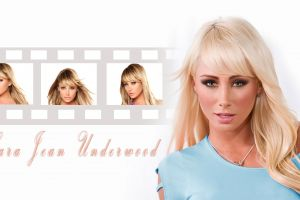 sara jean underwood blonde collage model women