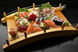 sashimi shrimp sushi food