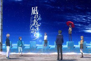 sayu hisanuma nagi no asukara chisaki hiradaira hikari sakishima anime umbrella