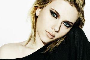scarlett johansson portrait actress face women celebrity