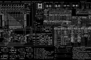 schematic numbers monochrome