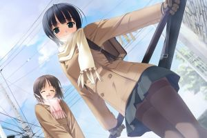 schoolgirl school uniform winter anime girls