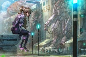 science fiction anime girls anime