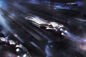 science fiction concept art artwork spaceship space