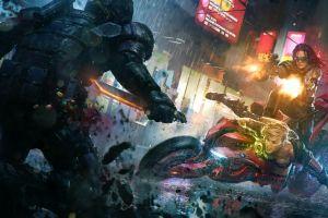 science fiction digital art cyberpunk last man standing: killbook of a bounty hunter dan luvisi