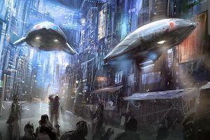 science fiction futuristic city futuristic