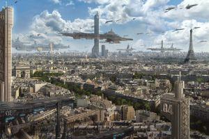 science fiction futuristic futuristic city cityscape