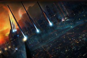 science fiction futuristic futuristic city