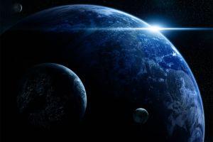 science fiction space art space digital art planet