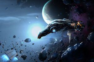 science fiction spaceship space vehicle digital art