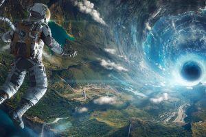 science fiction wormholes space art astronaut nasa futuristic artificial gravity digital art space