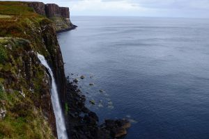scotland coast landscape sea horizon cliff waterfall