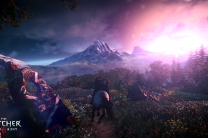 screen shot sunset video games rpg the witcher 3: wild hunt geralt of rivia