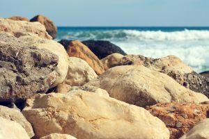sea beach stones nature rock coast