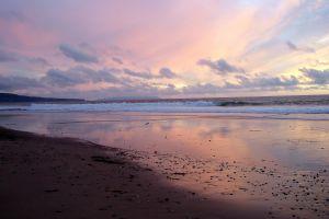 sea clouds beach horizon sky